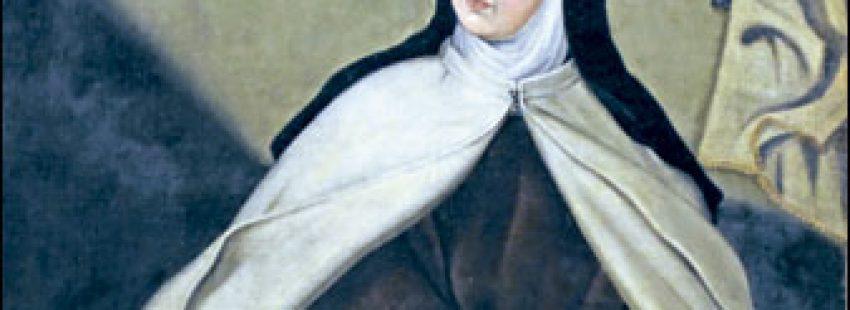 Santa Teresa de Jesús escribiendo
