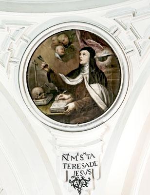 Teresa de Jesús en la iglesia del convento del Carmen en Segovia