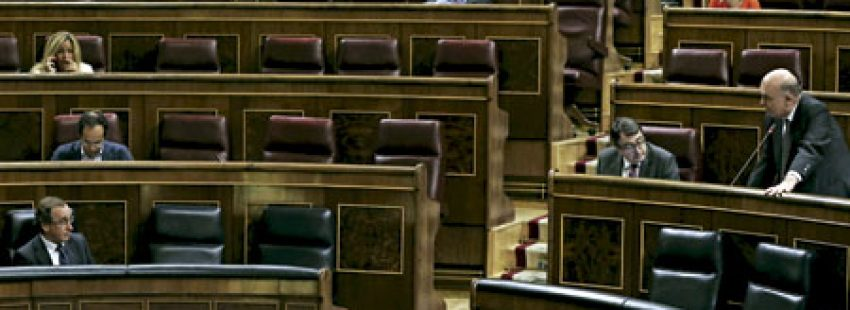 Congreso de los Diputados el día de la votación de la reforma de la Ley del aborto 2015