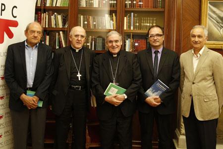 presentación en Madrid del libro 'La pastoral de las grandes ciudades', del cardenal Sistach, PPC, 14 julio 2015