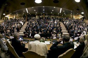 papa Francisco con alcaldes de todo el mundo en el Vaticano 21 y 22 de julio 2015