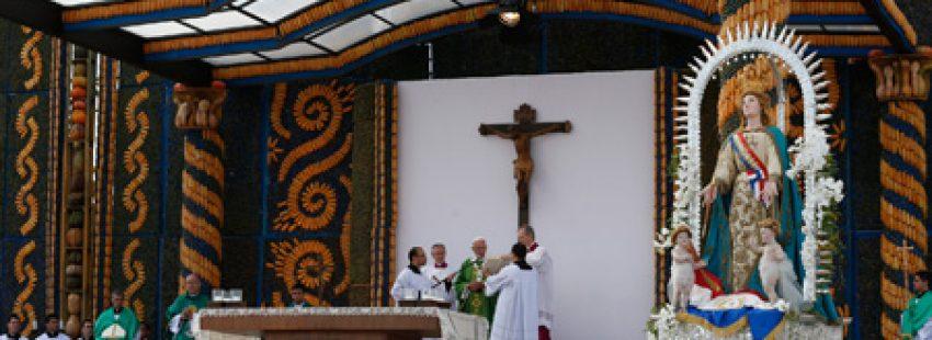 papa Francisco preside la misa en Ñú Guazú, Paraguay, 12 julio 2015