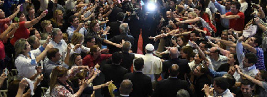 papa Francisco encuentro con los representantes de la sociedad civil Paraguay 11 julio 2015