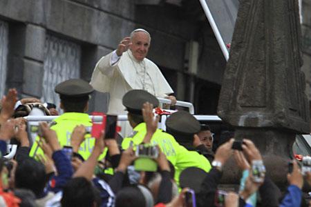 visita papa Francisco Ecuador, Bolivia, Paraguay 5-13 julio 2015 encuentro sociedad civil