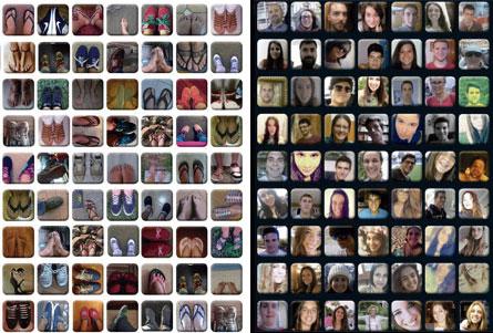 caras y pies de cien jóvenes que participan en el Encuentro Europeo de Jóvenes Ávila 2015