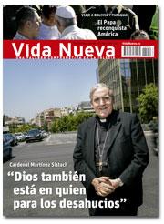 portada Vida Nueva Entrevista con el cardenal Sistach + Viaje del Papa a Bolivia y Paraguay