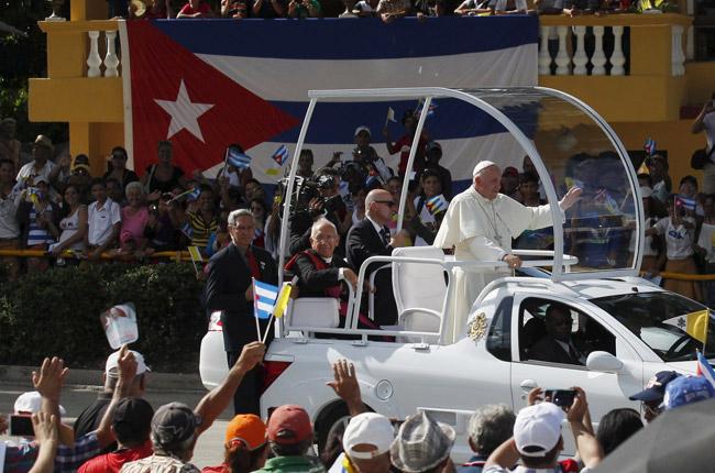 papa Francisco en Holguín, Cuba, 21 septiembre 2015
