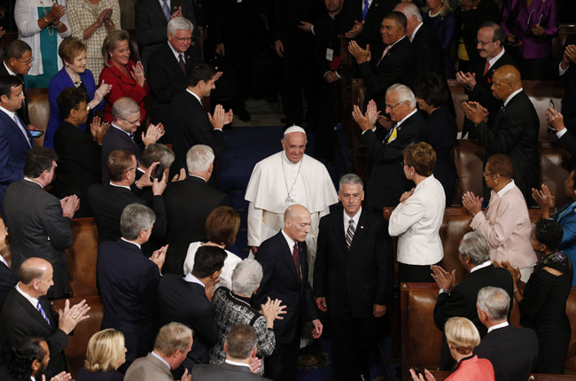 papa Francisco en el Congreso de los Estados Unidos de América 24 septiembre 2015