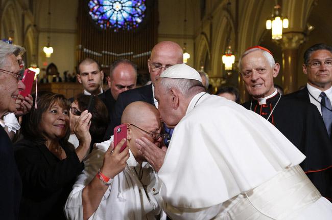 papa Francisco visita el centro caritativo de la parroquia St Patrick y encuentro con los sin techo 24 septiembre 2015