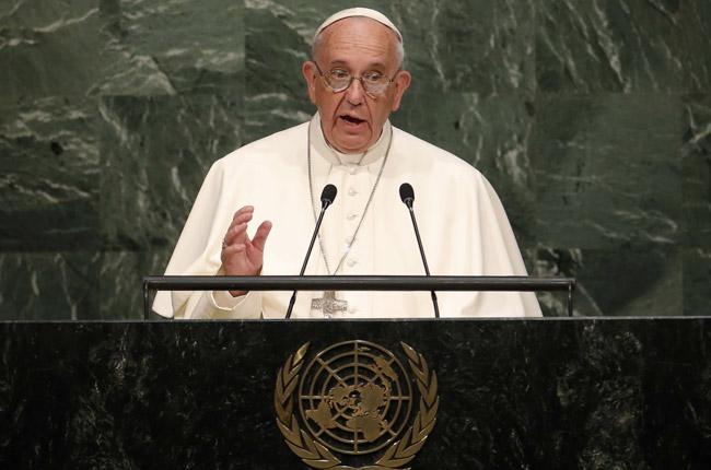 papa Francisco discurso ante la ONU Naciones Unidas Nueva York 25 septiembre 2015