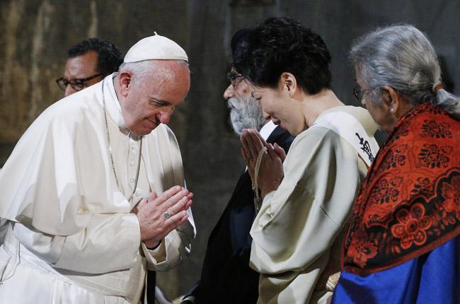 papa Francisco en el memorial 11-S Zona Cero Nueva York