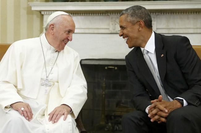 papa Francisco visita de cortesía al presidente Barack Obama en la Casa Blanca 23 septiembre 2015