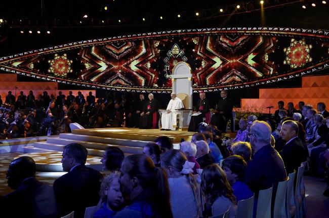 papa Francisco en la fiesta de las familias y vigilia de oración de EMF en Filadelfia 26 septiembre 2015