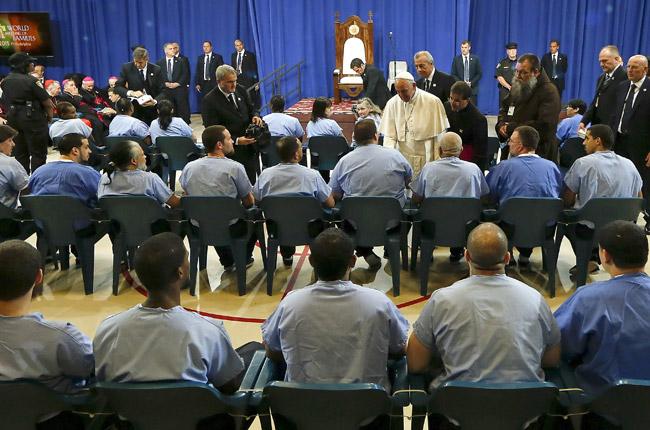 papa Francisco visita a presos en Filadelfia 27 septiembre 2015