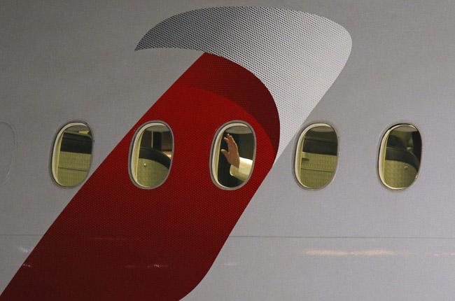 papa Francisco desde el avión de Estados Unidos a Roma