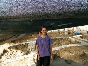 Carolina Aznar en Tel Regev (Israel)
