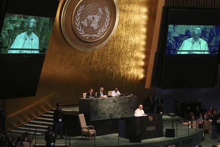 papa Francisco en la ONU Naciones Unidas discurso 25 septiembre 2015