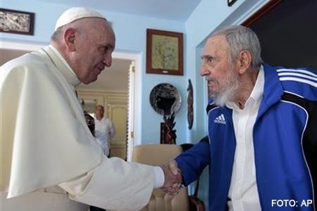 papa Francisco se encuentra con Fidel Castro en La Habana viaje a Cuba 20 septiembre 2015