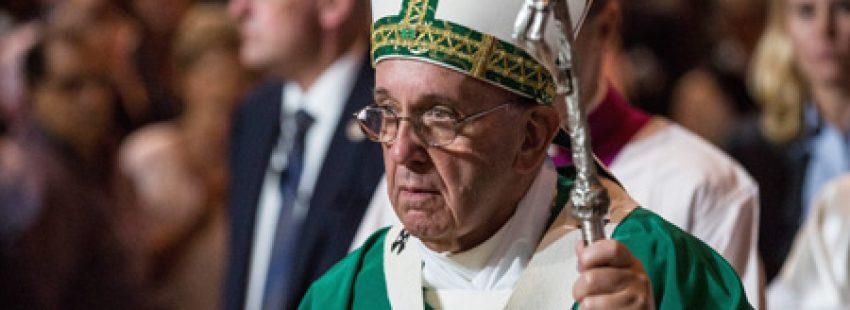 papa Francisco preside la misa en el Madison Square Garden de Nueva York 25 septiembre 2015