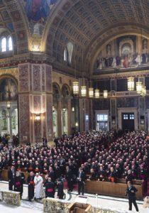 papa Francisco en el encuentro con los obispos de Estados Unidos en la catedral de Washingon 23 septiembre 2015