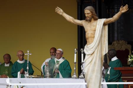 papa Francisco preside la misa en la Plaza de la Revolución de La Habana 20 septiembre 2015 viaje a Cuba y Estados Unidos