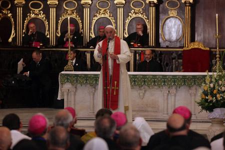 papa Francisco celebra vísperas con sacerdotes, religiosos, religiosas y seminaristas catedral de La Habana 20 septiembre 2015