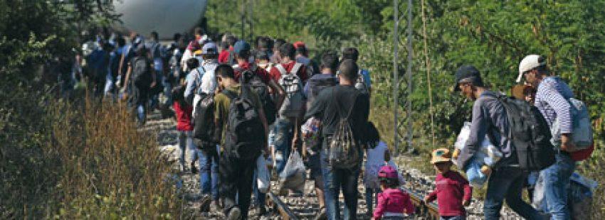 refugiados crisis humanitaria en Europa septiembre 2015