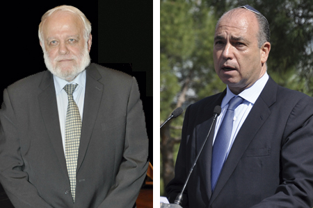 Riay Tatary, presidente de la Unión de Comunidades Islámicas de España, e Isaac Querub, presidente de la Federación de Comunidades Judías de España