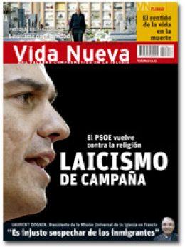 portada Vida Nueva Laicismo de campaña el PSOE contra la religión 2961 octubre 2015 pequeña