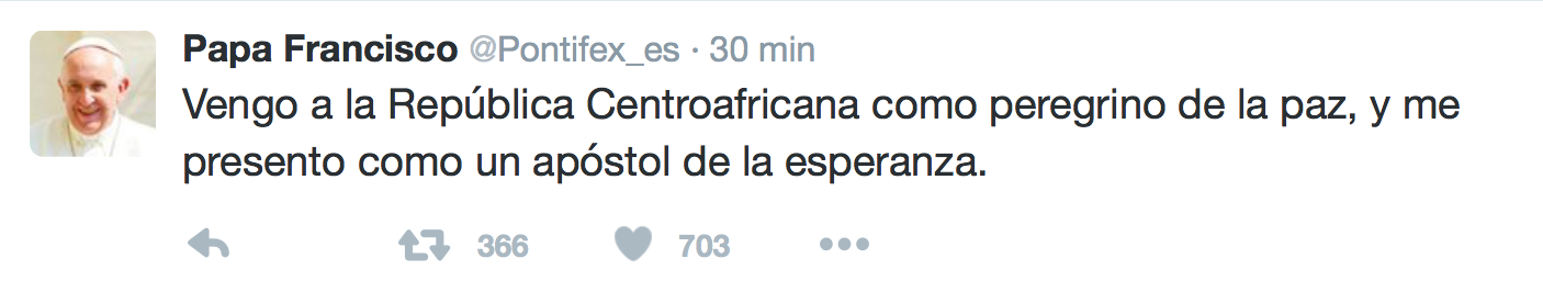 @pontifex republica centroafricana twitter