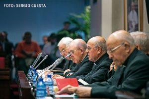 Blázquez, durante la lectura de su discurso inaugural en la CVI Asamblea Plenaria