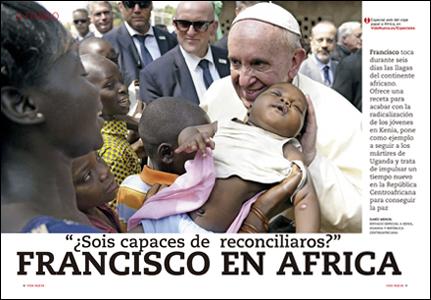 apertura A fondo VN Viaje del papa Francisco a África 2967 diciembre 2015