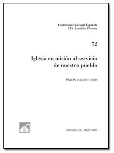 Plan Pastoral de la Conferencia Episcopal Española 2016-2020 portada