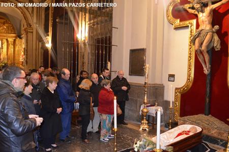 velatorio de Alberto Iniesta en la Capilla de San Cosme y San Damián en la Colegiata de San Isidro Madrid 4 enero 2015