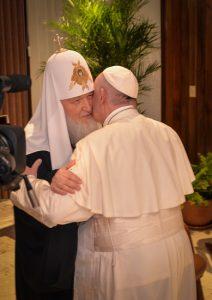 papa Francisco y Kirill de Moscú, patriarca ortodoxo ruso, se encuentran en La Habana, Cuba, viernes 12 de febrero de 2016