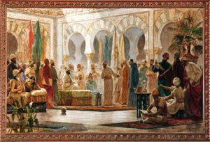 Dionís Baixeras al-andalus-1-G corte de Abderramán III en Córdoba