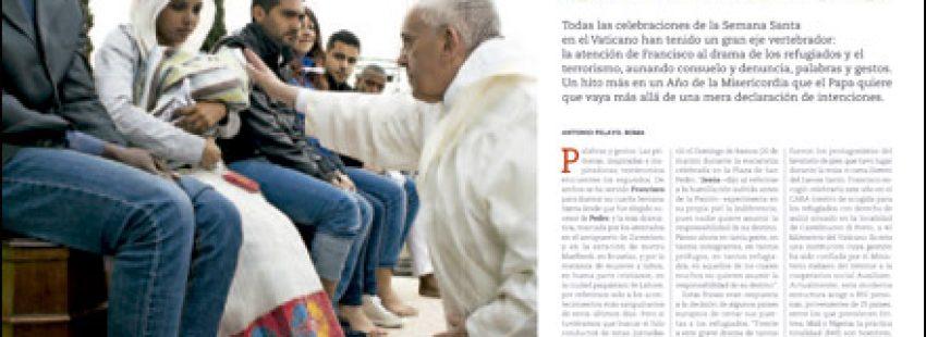 apertura A fondo Semana Santa 2016 del papa Francisco con los refugiados 2982 abril 2016
