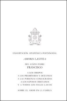 portada exhortación apostólica postsinodal Amoris Laetitia