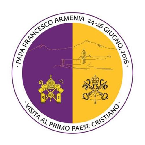 logotipo de la visita del papa Francisco a Armenia 24-26 junio 2016