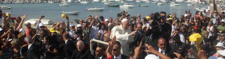 Francisco en la isla de Lampedusa (julio 2013)