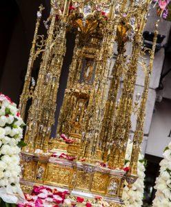custodia procesional de Toledo después de la restauración en la procesión por Toledo del Corpus Christi 26 mayo 2016