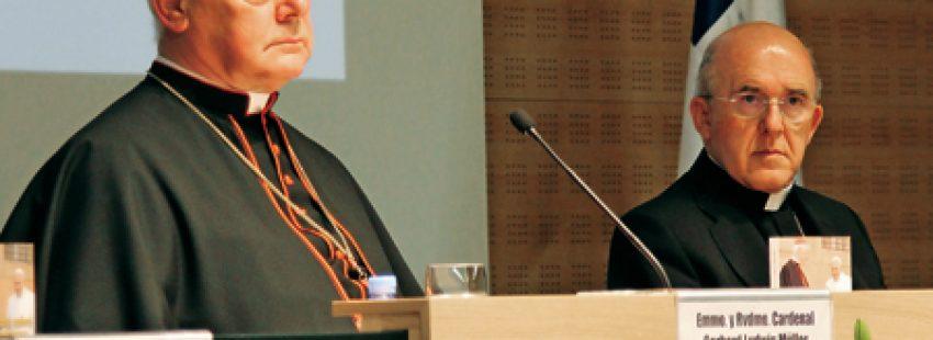El cardenal Müller y el arzobispo Carlos Osoro