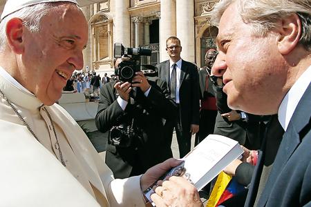 Leopoldo López Gil y papa Francisco