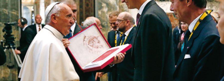 Papa Francisco y rey Felipe