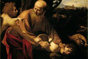 'El sacrificio de Isaac' (Caravaggio, 1603)