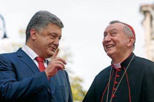 Pietro Parolin y Petro Poroshenko