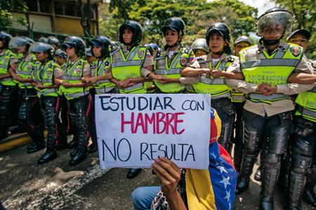 Protesta universitaria en Venezuela