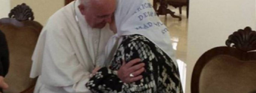 Hebe de Bonafini con el Papa