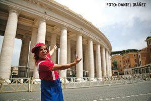 Payaso Pastelito en el Vaticano