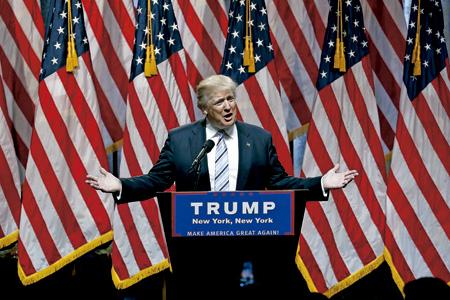 Donald Trump en la Convención Republicana donde consiguión la nominación como candidato a la Casa Blanca 18 julio 2016